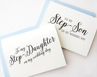 Gift For Stepson On Wedding Day : Daughter on my Wedding Day, To my Step Son on my Wedding Day, Wedding ...