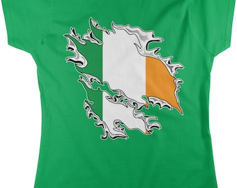 Irish Flag, St. Patrick's Day, Irish Pride, Flag of Ireland Women's T-shirt, NOFO_00149