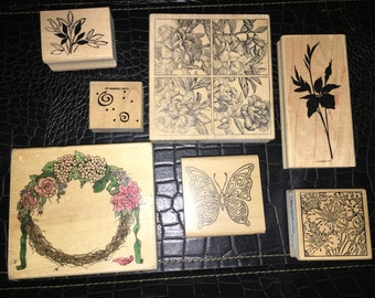 Mixed floral stamps
