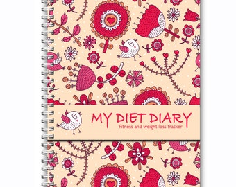 A5, Diet Diary,  Slimming World, Weight Watchers, Calorie Counting, Tracker, Journal,Notebook, Weight loss, Extra Easy,Wire Ring Bound