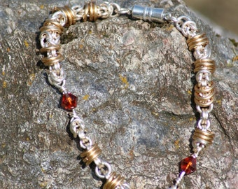 rolling chainmail bracelet