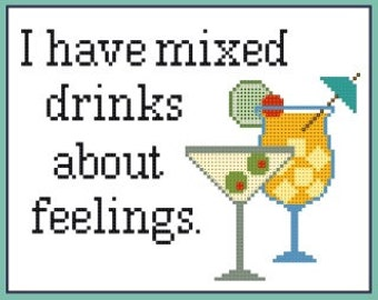 Mixed Drinks cross stitch