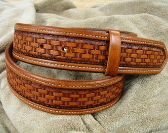 Handmade Basket Weave Belt