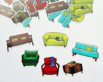 STICKER flakes, various designs