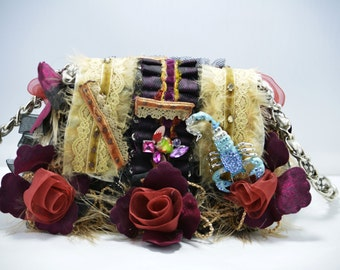 Leather handbag, leather bag