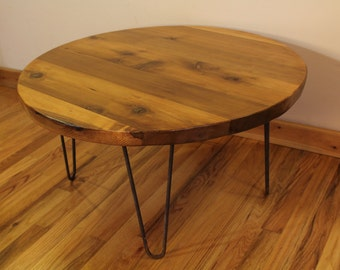 Round Industrial Coffee Table