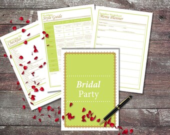 CUSTOM Printable Wedding Planner, DIY Wedding Organizer, Ultimate Wedding Planner, PDF, custom colors and combinations!