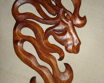 Horse, Wooden Horse/  Wood carving Horse/  Carving wall Horse/ Horse Decorations/ Horse Art/ 19 inches Horse