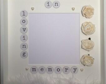 handmade embellished 3d in loving memory photo frame gift idea wooden photo frame