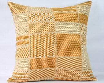 Geometric jaquard decorative cushion mustard throw pillow covers 18x18 yellow pillow case yellow throw pillow covers 20x20 sofa pillow cover