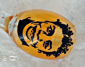 Crazy Eyes Handpainted Wineglass (OITNB)