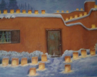Adobe with snow