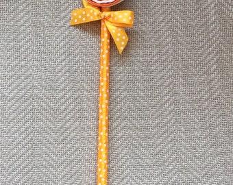 Orange Swirl Pen