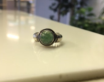 Sterling Silver Ring - Green Stone
