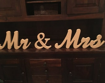Mr & Mrs Wedding Table Decoration