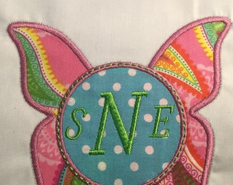 Monogrammed Butterfly Applique