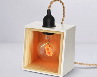 Private Corner Collection | Handmade Pine Wood (FSC), add the Sunflower Light Bulb / Edison Light Bulb | 1-Year Warranty