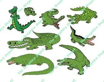 Alligator SVG file, eps, ai, studio3 files - Alligator Cut File - Alligator Clipart - Screen Print - Cricut Explorer - Silhouette