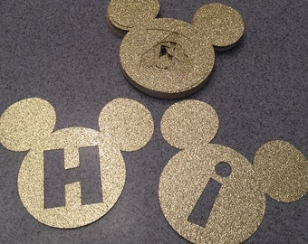 Custom Mickey Mouse letters Disney letter cutouts Mickey Mouse cutouts Mickey Letters Disney letters Mickey Banner Minnie Mouse cutouts