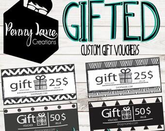 PLC Custom Gift Certificate Voucher - Custom Voucher Design - Business Voucher - Custom Gift Certificate