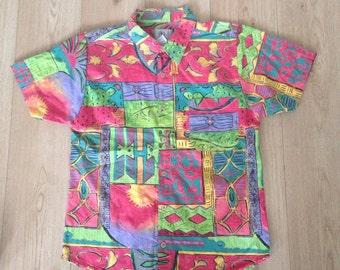 SALE - MENS   90s' vintage party shirt   Size M - SALE