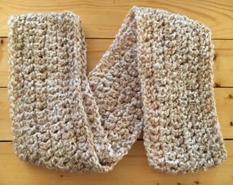 Crochet Infinity Scarf White