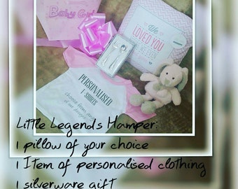 Personalised Little Legend baby hamper.... perfect baby gift, new baby.