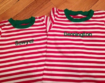 CLEARANCE Christmas Pjs with Name