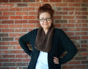 Brown Twist Crochet Cowl