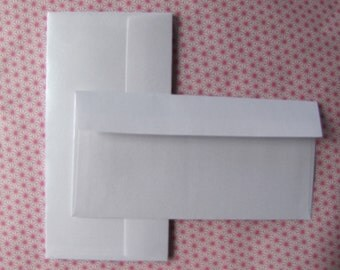 20 luxury white beaded format DL 110x220mm manufacturing French envelopes
