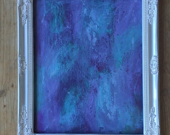 Purple Abstract Art, Blue Painting, White Wall Art, Abstract Painting, Modern Art, Original Painting, Affordable Art, Contemporary Painting