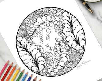 Adult Colouring Page Eden