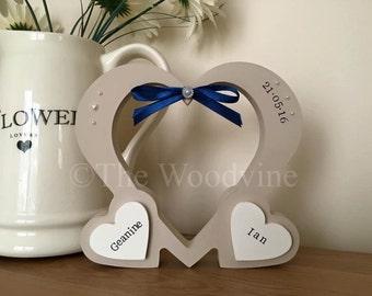 Personalised Wedding/ Anniversary / Baby Hollow Heart
