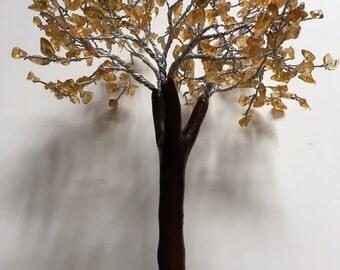 Carnelian Crystal Gem Tree On Orgone (Organite) Base - Large approx 18cm