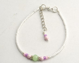 Friendship Bracelet with Swarowski Pearl