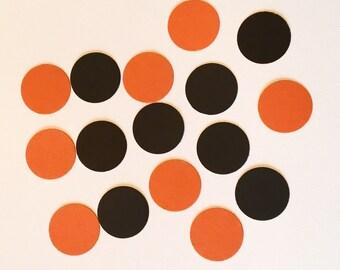 200 Black and Orange Confetti Halloween Party Confetti Halloween Birthday Confetti Polka Dot Confetti Black Confetti Orange Confetti