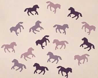 225 Purple Horse Confetti Purple Pony Confetti Horse Party Pony Party Purple Confetti Birthday Confetti Horse Confetti Pony Birthday Purple