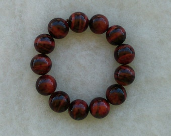 Red Tiger's Eye Strechy Bracelet