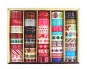 Today's Special! Recollections Seasonal Holiday Washi Tapes Box - 45 rolls - Christmas/Halloween/July 4th/Birthday/Valentine's Day