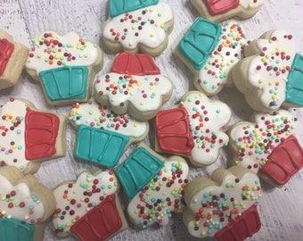 Mini Sprinkle Cupcake Cookies
