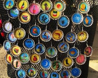 Loteria Bottle Cap earrings