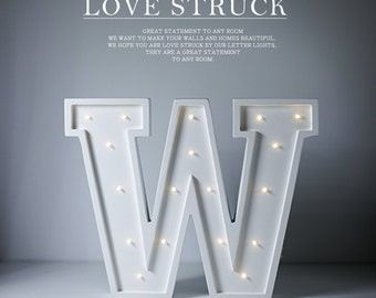 Letter W Lights,events lights,funny lamp for baby,letter sign Night light Wall Art, light up sign letters,In stock