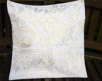 "Shangaan Embroidery cushion cover 45x45cm (18x18"") Tree of life"