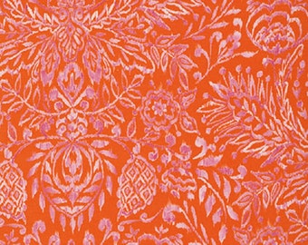 "Dena Designs  FreeSpirit  ""Tangier"" Damask Cotton Fabric in Orange"