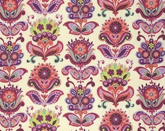"Amy Butler designs  for Westminster Rowan  ""Bright Heart""  Folk Bloom Natural  Remnant"