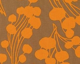 "Amy Butler ""Forest Fiddle Heads"" collection  Amber  Organic Cotton Fabric   REMNANT"