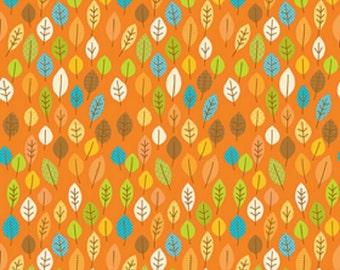 "Riley Blake designs  ""Happy Harvest"" Main  Doodlebug designs Orange  Cotton Fabric"