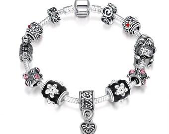 Midnight Passion Pandora Inspired Bracelet