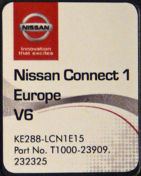 nissan se connecter sd karte carte 2016 v 6 europe lcn1. Black Bedroom Furniture Sets. Home Design Ideas