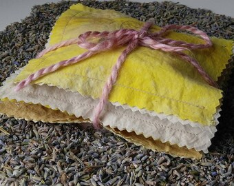Certified Organic Lavender Sachet/Organic Cotton/Plant Dyed Fabric/Natural/Moth Repellent/Air Freshener/Mini Pillow Sachet/French Lavender